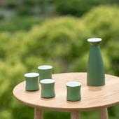 中式古典日本清酒壶家用酒杯白酒小 山水间青竹景德镇陶瓷酒具套装图片