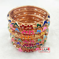 New cloisonne 7-13 year old children's cloisonne bracelets fine hollow children's bracelets medium size bracelet