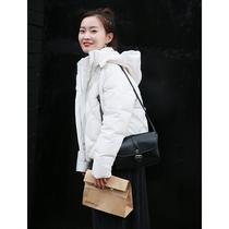 尔尔自制小个子女装小码150/145高显高白色短款羽绒服
