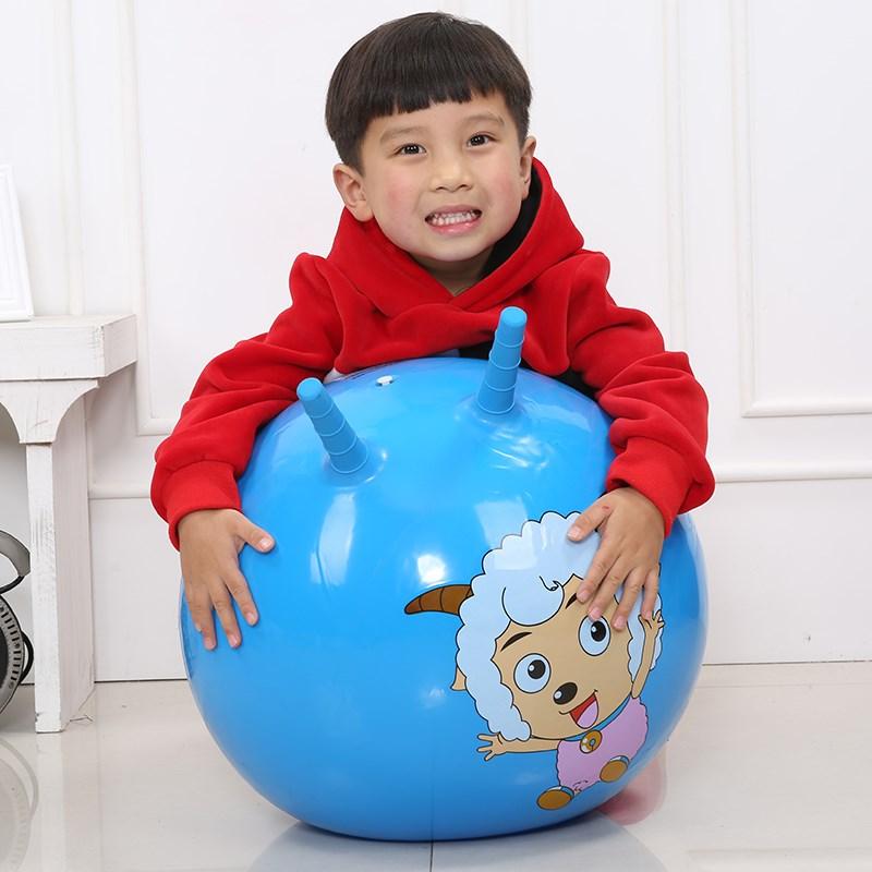 羊角球蹦蹦求跳跳球手柄球幼儿园亲子玩具球儿童乐园球做活动跳舞