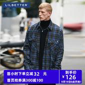 衬衣休闲网红宽松潮牌港风男士 衬衫 男长袖 Lilbetter格子衬衫 韩版图片