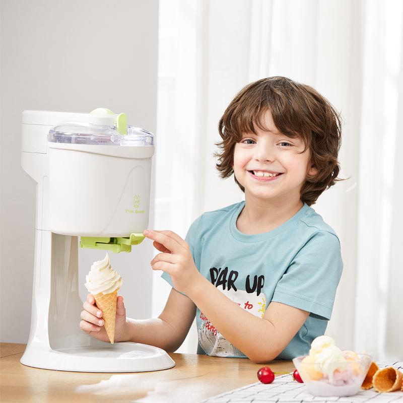 冰淇淋机家用儿童diy水果冰激凌机小型全自动甜筒机子自制雪糕机