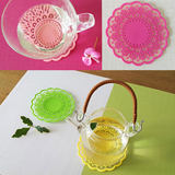 Creative table mat bowl mat Non-slip insulation pad lace cup cup anti-scalding pad coaster silicone 6 pack