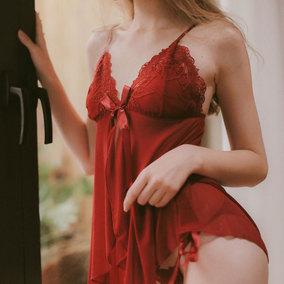 管阿姨十点半A-001致爱丽丝性感网纱家居服透明睡裙女吊带睡衣