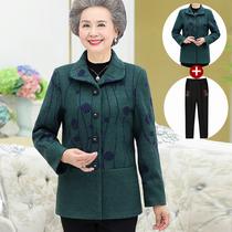60岁中年夏5040恤纯棉麻套装女奶奶衣服大码夏季装t妈妈夏装短袖