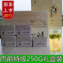 高档礼盒装春茶特级白茶250g新茶叶开园头采白茶2017正宗安吉白茶
