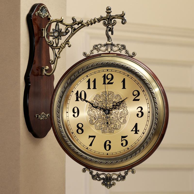 金属挂钟客厅欧式