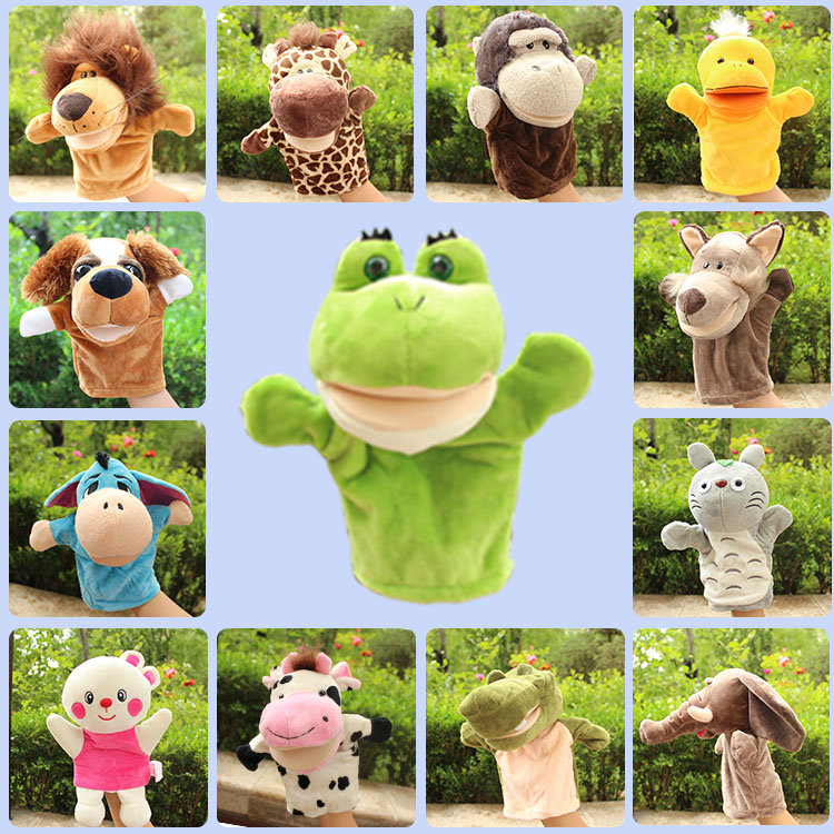 益智亲子腹语手偶玩具套装幼儿园小动物手套嘴巴能动