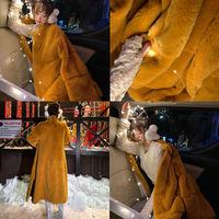 LIN CHAO ZHANG high luxury imported mink fur coat fur mink fur coat green wool coat
