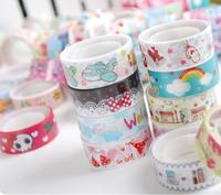 Aliang Liangpin Korean stationery small tape cartoon tape cartoon color tape not dry tape 3069