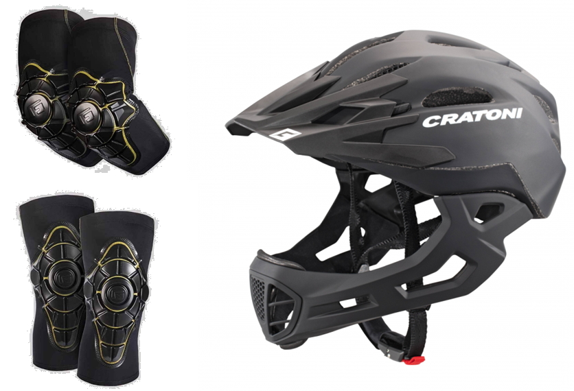 Cratoni 全盔+G-Form护膝+G-Form护肘 平衡车头盔护具套餐