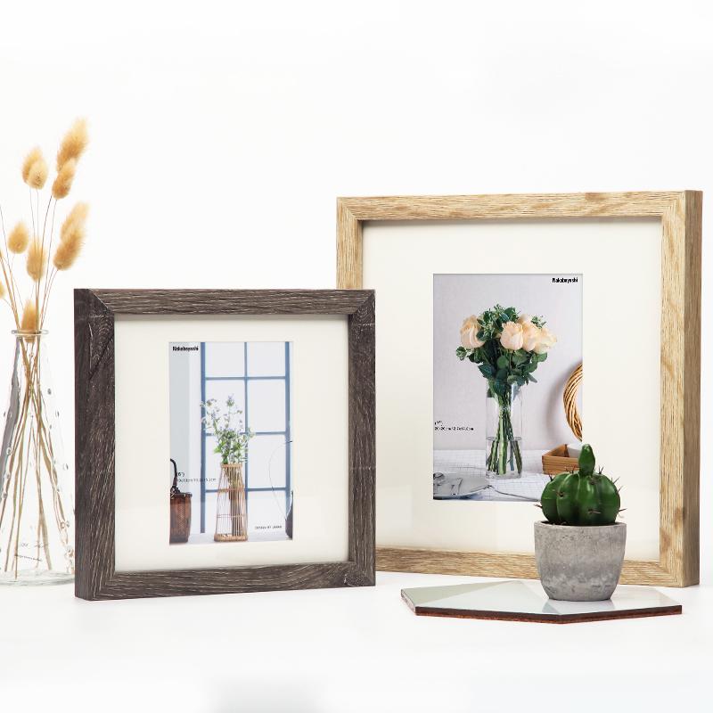 nakabayashi 相框摆台7寸6寸创意儿童相片宜家画框挂墙实木质相框