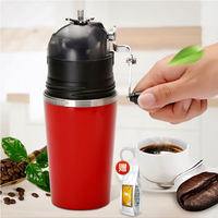 Outdoor portable coffee cup portable hand-grinding coffee machine Office small grinding and brewing machine
