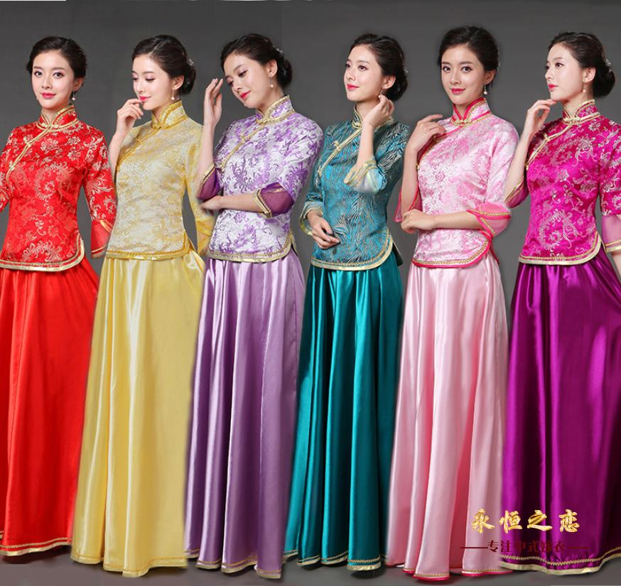 Costume Miss Xiao Fengxian installed guzheng performance clothing new Chinese wedding sister
