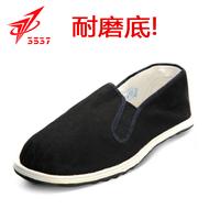 正品3537军布鞋男黑色老北京千层底布鞋板鞋<俄罗斯军用78式布鞋