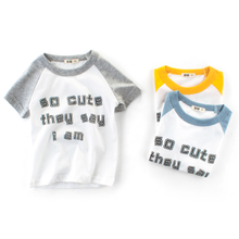 Short-sleeved cotton T-shirt for boys and girls