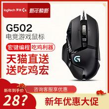 罗技G502RGB有线游戏鼠标竞技吃鸡专业电竞游戏鼠标 新年价