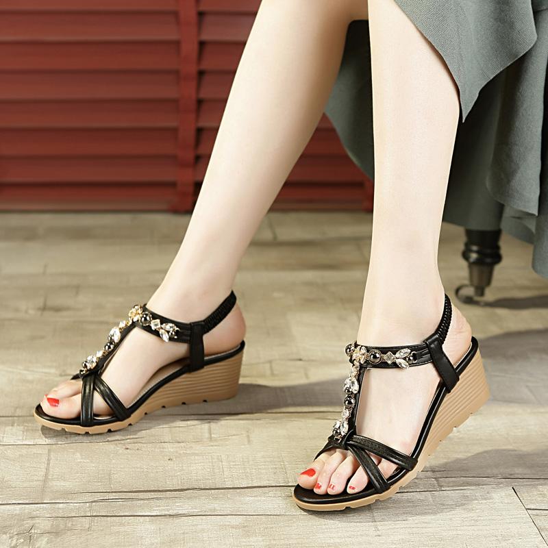 韩版甜美波西米亚凉鞋