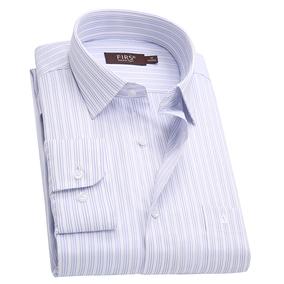 杉杉2019新款专柜正品男士长袖衬衫大码工装免烫宽松版高棉衬衣