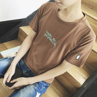 便宜20元以下夏季学生短袖t恤男潮流紧身半袖上衣服男装9.9元10元