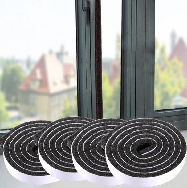 门窗缝隙密封贴防尘防风防噪音窗户隔音玻璃门方风条密封条4个装