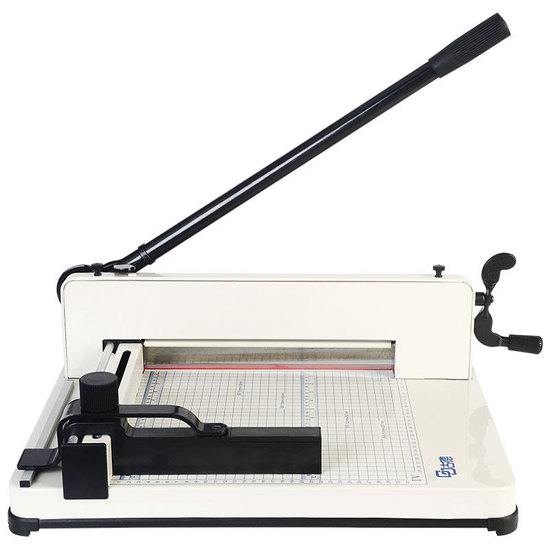 古德858A4重型切纸刀裁纸刀 可切4厘米 400张 加厚厚层切纸机裁纸机手动裁切刀大型切书机名片切卡机切纸机
