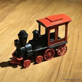 出口美国复古蒸汽火车头童话里的小火车小男孩喜欢可推行玩具火车