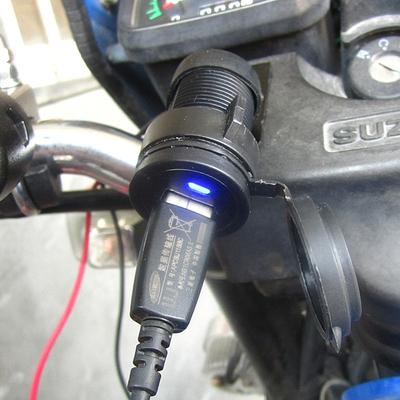 摩托车手机充电器摩托车点烟器式车载usb充电器防水改装12V转5V