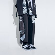RUFFER LAB 2019SS Chaozhou Portrait Colour Colour Colour Colour Colour Collision Deconstruction Stitching Loose Straight Cotton Pants Broad-legged Pants