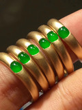 A Goods Jadeite Bracelet Live Broadcast Pendant Ring Avalokitesvara Gong Bing Yang-green Buy Gold-inlaid Jade Ice-green Full-color Ring