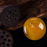 Natural chicken oil amber beeswax beads yellow honey pendants men and women models 108 peace buckles beeswax beads bracelets
