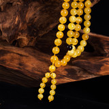 Natural Chicken Oil, Amber Honey Wax, Ball Yellow Honey Necklace, 108 Handstrings for Women and Men