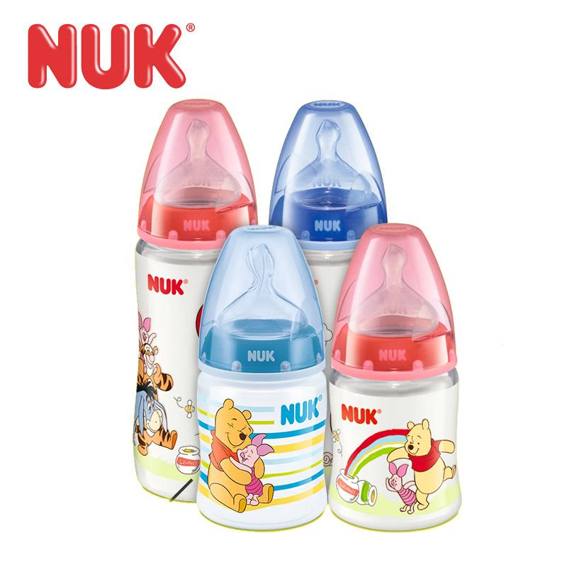 NUK迪士尼维尼宽口PP奶瓶 德国新生婴儿奶瓶 防胀气塑料奶瓶