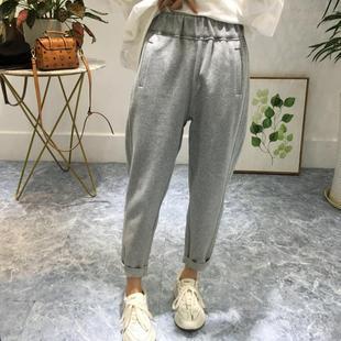 宽松显瘦纯棉哈伦裤 休闲裤 2019秋季新款 小脚萝卜裤 韩国女装