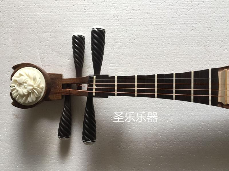 琵琶乐器包邮黑檀轴相鸡翅木琵琶专业演奏考级琵琶贝雕琵琶