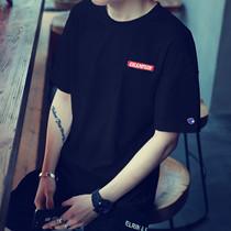 恤男装圆领潮流半截袖韩版修身体恤青年休闲上衣服打底衫男t短袖