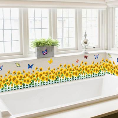 客厅仿真小草坪腰线防水踢脚线墙贴纸3d立体绿色植物田园墙角贴画特价