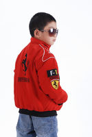 Pegasus autumn and winter new children's car racing suit cotton suit Datong plus cotton F1 motorcycle suit