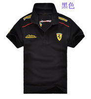 Pegasus summer new men's short-sleeved racing suit cotton collar full embroidery LOGO racing suit