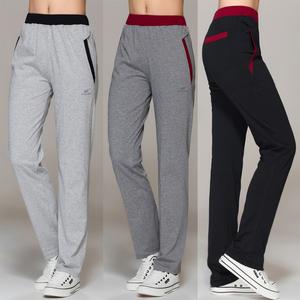 夏季薄款运动裤女长裤显瘦直筒全纯棉宽松卫裤休闲青中年女式裤子