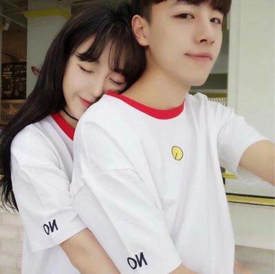 情侣装夏装2018新款短袖T恤男女学生休闲韩版情侣套装班服潮