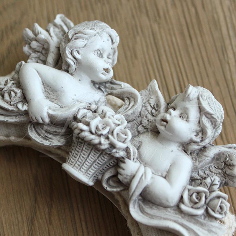 米子家居 欧式创意蕾丝单个窗帘扣夹 环保树脂布艺天使窗帘扣环
