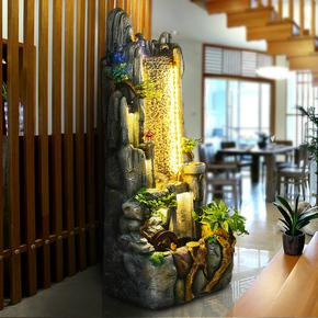 假山流水喷泉水景摆件水幕墙大鱼缸家居装饰办公室客厅招财风水轮