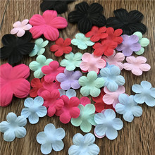 Hand-sewn Satin Flower Sticker DIY Hand-decorated Wedding Dress Performing Dresses Small Flowers Hot-cut Flower Material Package Accessories