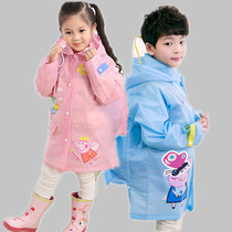 Kids  raincoat rain shoes childrens gear set boys and girls kindergarten lengthening thickened child poncho
