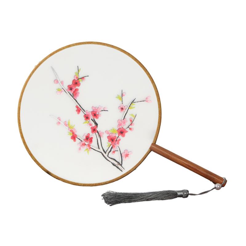 刺绣diy学生手工扇子风团扇成人孕妇绣刺创意礼物材料包苏绣套件