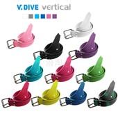 11色可选 钢扣 威带夫 橡胶 自由潜配重帶 V.DIVE