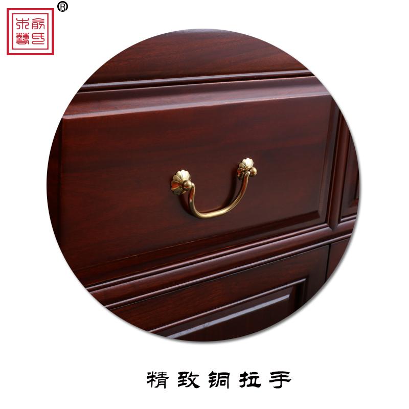 复古全香樟木嫁妆陪嫁柜子箱子简约实木衣柜收纳储物橱抽屉柜箱柜