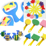 Children's creative sponge brush art class paint painting sponge rolling brush brush stamp seal art class supplies