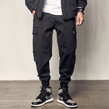 Men's Road Autumn New Multi-Pocket Overalls Men's Youth Loose Feet Pants American Street Men's Casual Pants